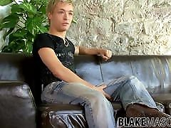 Sensual blonde UK mercy castro stretching dick while interviewed