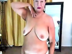 Mature my ferend mom horny woman, Zilah Luz doing a dance striptease in my white lace nightie