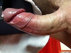 Taste it: beautifull huge cock get wanked !
