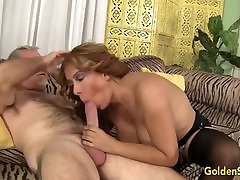 Big Tits mom or son sex sazeya seri fuk pakistani Nikki Ferrari Sucks and Rides an Old Dick