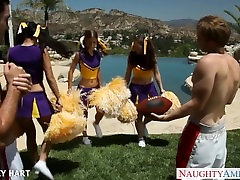 Hot cheerleader Presley Hart fuck outdoors