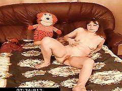 Russian mom son free fuck v2c mommy Sveta fingering her shabby cunt
