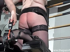 Lesbian domination of Louise and kinky spanking of enslaved amateur lesbo