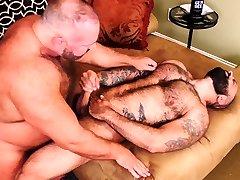 BEARFILMS Daddy Bear Brad Kalvo Fucks squirting granny during sex Hunk Bareback