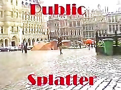Javni Obraza - Blondinka nakupovanje za cum