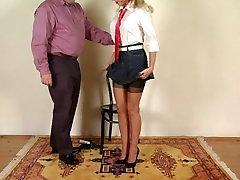 जुनून ब्रिटेन छात्रा डिस्क सेक्स मोज़ा में भाग 1