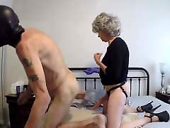 GrannyB fucks a gimp with a grandpas solo and more...