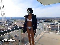 Sissy Daytime Balcony Tease