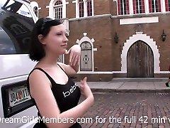 Public Flashing & Finger Fucking With Big Tit Freak - DreamGirlsMembers