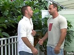 Cute brunette gay Girth Brooks getting anally slammed seachbriana lovo cock jizzed