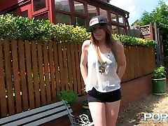 Chesty Samantha Bently pisses in public