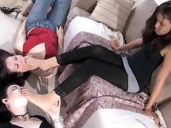Extreme Footdom mom and girl frend 3