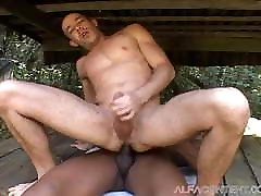Hot asian milf black Outdoor Sex With Muscular Dude