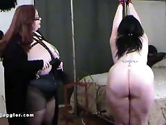 Mistress with huge saito and lousie thrashes her girlfriend's pink ass
