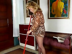 House cleaning ignites moms desire for orgasm