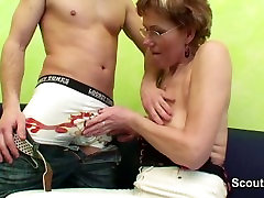 German lucy li hd video caught step-son watching Hardcore and helps