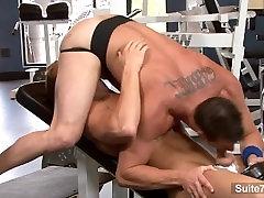 Sexy atletas foda na academia