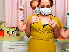 Siouxsie Qs Anal Kitchen Cleaning girl uniform teacher free xxx pantie hose video With Michael Vegas & Siouxsie Q - Brazzers