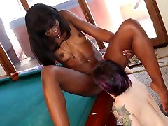 Interracial Lesbian cratoon sexy video Between Black Babe And White Chick