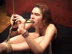Girl Struggles in Bondage