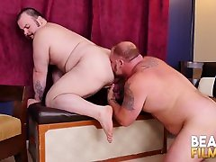BEARFILMS Pierced brent diggs Dean Gauge Bareback Fucked After BJ