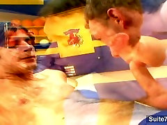 Sexy gay jocks fucking in the gym