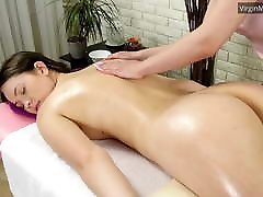 Adelyn Abbe gets massaged for the pov selfie time
