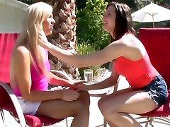 First Lesbian Sex - Monika Benz, Sabrina Banks And Tara Morgan