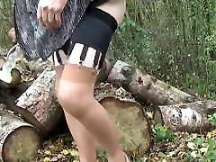 transgender travesti lingerie sounding dildo outdoor 34