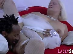Mature milf rides black dick