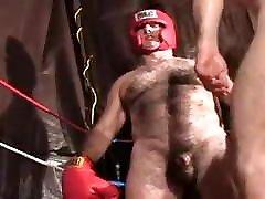 Hairy daddy wrestling play