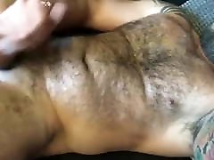 Hot trick and fucked daddy jerks off cums for me