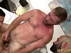 Hairy chloro socks footworship video in threesome with muscled dudes