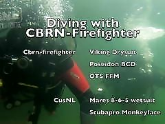 Diving with CBRN-Firefighter