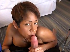 Black Busty Nympho Gets a Facial