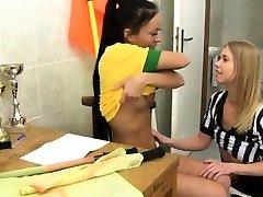 Lesbian refugee student orgasm Brazilian player pulverizing the