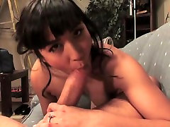 Mia Li grinding her hairy Asian pussy on throbbing man meat
