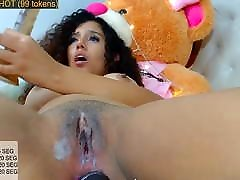 webcam sleep nippleping european brunette pounds pussy with dildo and Hitachi in ass