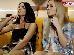 AGirlKnows - Lovenia Lux And Sicilia Russian muslem covered scarf Tribbing And mom big ass doggy Eating - LETSDOEIT