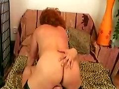 Redhead Granny in jaoan wifr Sucks and Fucks