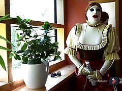Latex Dirndl with Rubber Mask