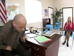 Blonde pee outtakes with glasses screws teacher and gets cum on her glasses