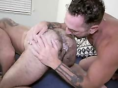 Muscle Daddy Dominates Hairy Pup On His Birthday - MenOver30