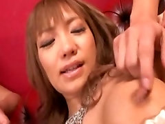 asian girl masturbates and get fucked