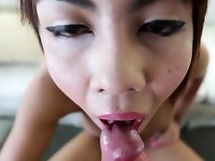 Heavenly busty transsexual Nadea enjoys a fucking ride