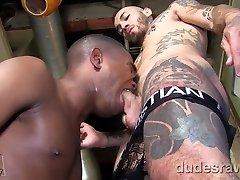 Tattooed Latinoman Fucks sam crockett gay xxx twice big tits Bare
