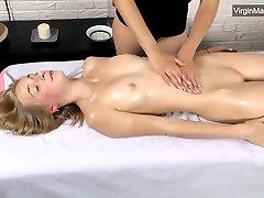 Skinny Virgin Teen handjob finger in ass Massage