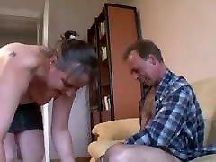 Hot leg trampling Woman And A Guy