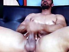 Hot young Latino edging his comendo cu da sogra safada long hard cock