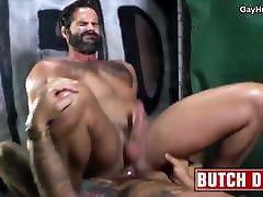 Bearded alysa extreme gets barebacked. Hot gay porn